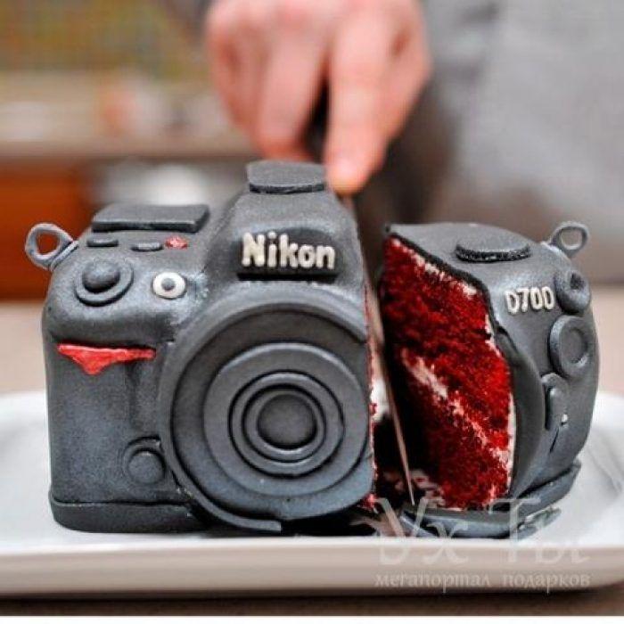 Vseh Professionalnyh Fotografov A Takzhe Lyubitelej Pozdravlyaem S Dnyom Fotografa Realistic Cakes Amazing Cakes Creative Cakes