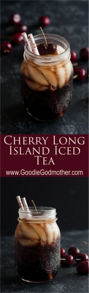 Cherry Long Island Iced Tea is a seasonally inspired twist on the classic Long Island Iced Tea recipe. * Recipe on GoodieGodmother.com