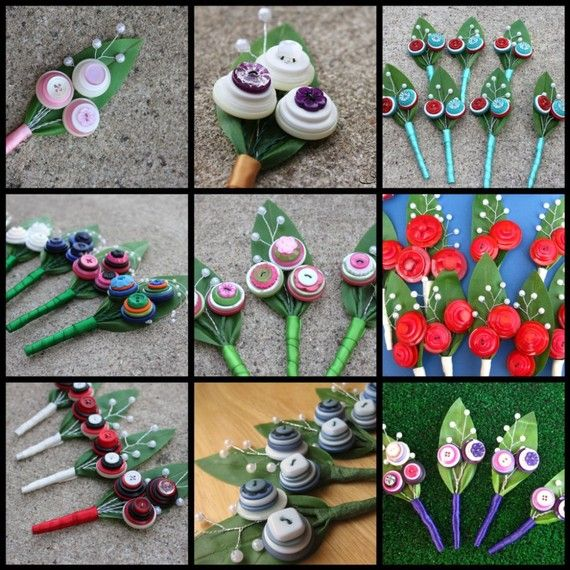 button and felt Boutonnieres