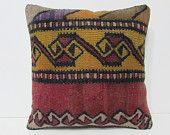 kilim pillow covers 18x18 embroidered pillow case western pillow case decorative home accessories country decor antique throw pillow 27061