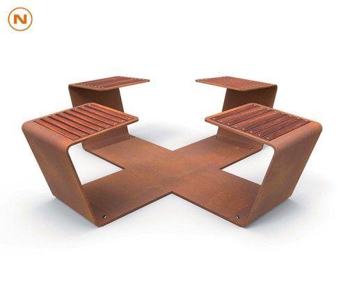 guyon banc metal modulable clip mobilier urbain