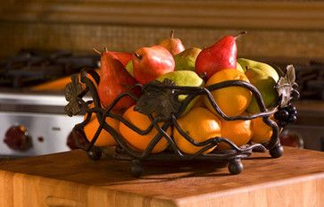 Iron Fruit Basket mediterranean food containers and storage