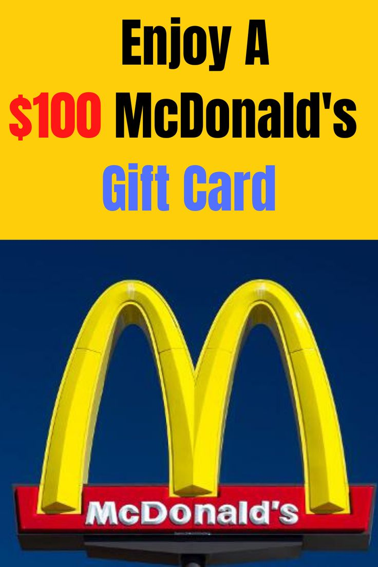 Benefit with a 100 gift card in 2020 mcdonalds gift