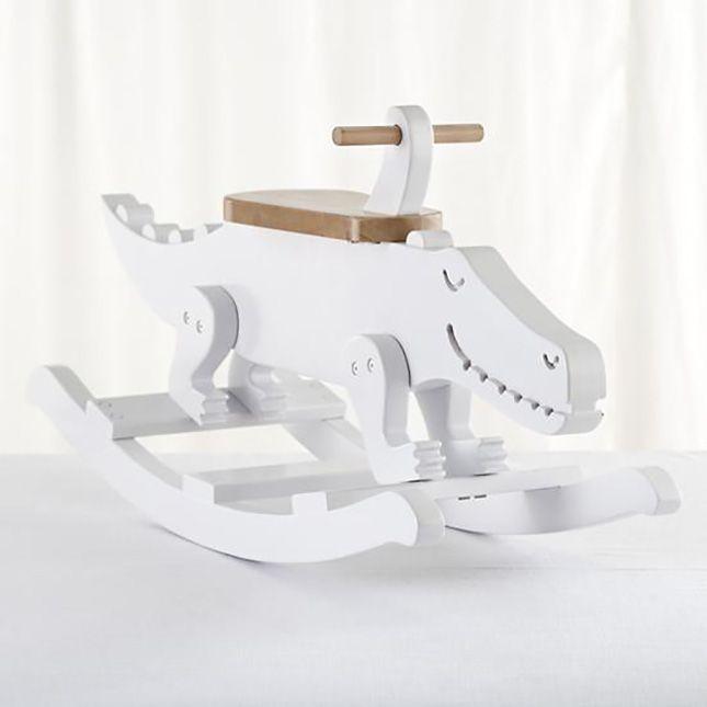 This wooden crocodile rocker is so freaking cute.