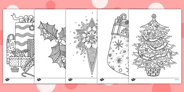 christmas themed mindfulness colouring sheets this lovely set of colouring sheets feature a. Black Bedroom Furniture Sets. Home Design Ideas