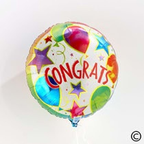Want to get your message across loud and clear? Then add a balloon to your order.    Whatever the event, be it an engagement, wedding or simply passing their exams this Congratulations Balloon will help you say it louder.