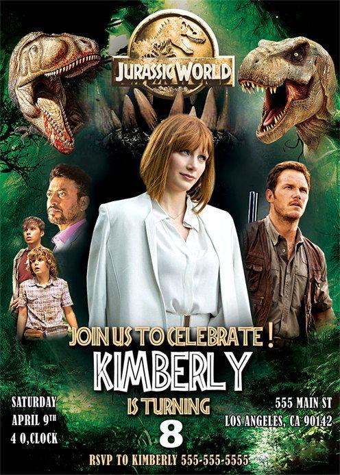 Jurassic World Invitation Jurassic World digital by BogdanDesign