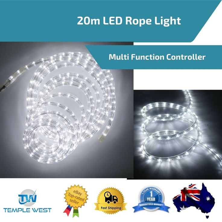 20m Gazebo LED Rope Light Strip Lighting Party Camping Outdoor Multi Controler