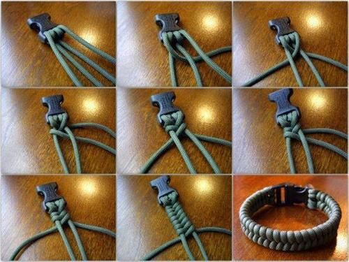 How to twine a PARACORD Bracelet.