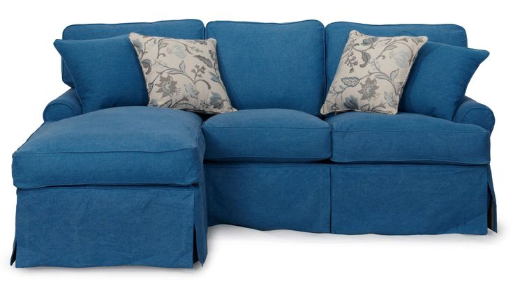 Lowest price on Sunset Trading Horizon Indigo Blue Slipcovered Sleeper Sofa and Chaise  SU-117678-410046. Shop today!