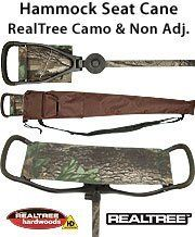Hammock Seat Cane -Non Adj - REALTREE CAMO on shaft & Seat by Royal Canes. $79.95. Modeled after the popular design of our best-selling hammock-style seat cane, this new product features the renowned RealTreecamouflage print on all sides of the seat and throughout the length of the shaft. Almost three dimensional in appearance, this camo-print is perfectly suited to almost any terrain. Whether you need a comfortable seat in your duckblind, a seat for around your camp...