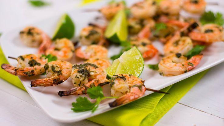 Cilantro Lime Shrimp Skewers