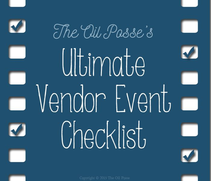 A complete vendor event checklist to assist you with ensuring you have everything you need for an indoor or outdoor vendor event.