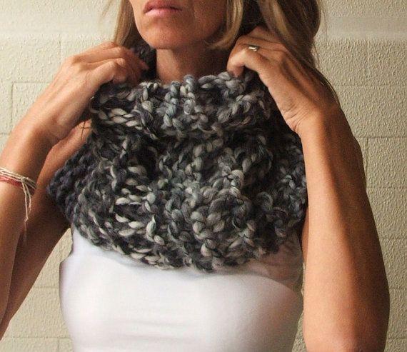 iLEAiYE oversized Chunky Cowl / oversized scarf / in by ileaiye, $30.00