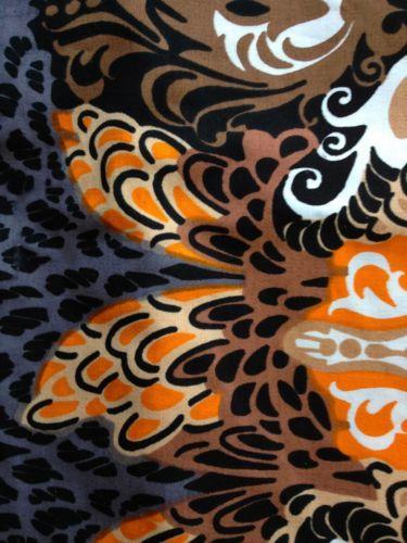 Vtg New Old 60s 70s 2 yds Tampella Finland Marjatta Metsovaara Sateen Fabric | eBay
