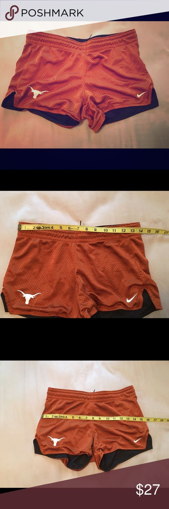 UT University Of Texas Nike  Shorts 🎉Clearance🎉 Size XS but runs larger imo.                                               A few loose strings at the top but a solid A-           condition.                                                                             I love bundling! Nike Shorts
