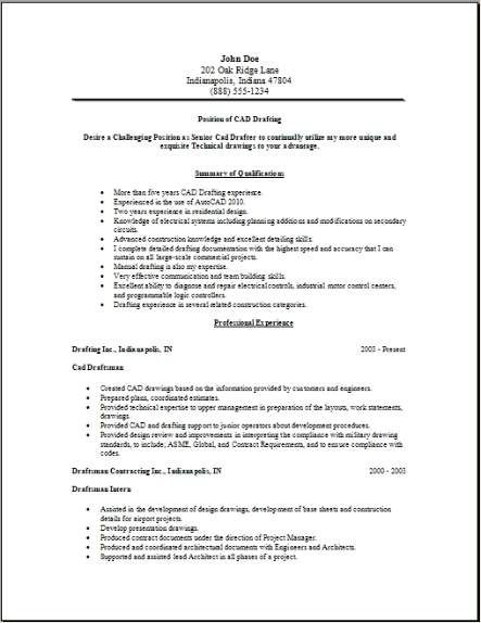 Drafting Resume Occupational Examples Samples Free Edit