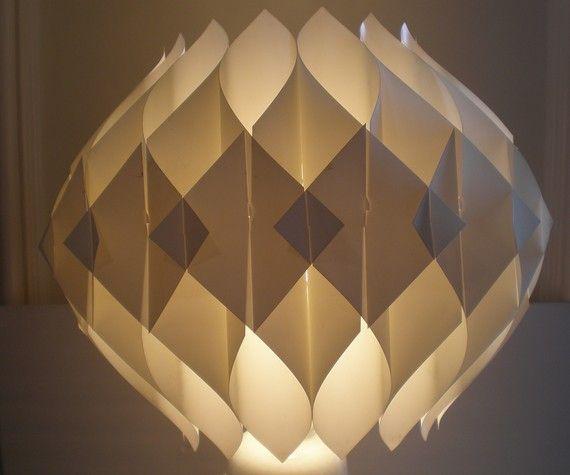 mid century modern origami fixture