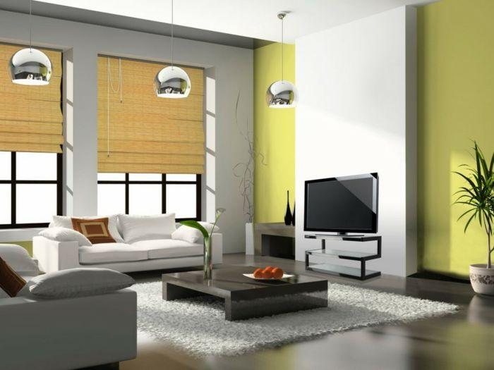 25+ ide terbaik tentang Raffrollo Grün di Pinterest Springrollo - wohnzimmer einrichten grun