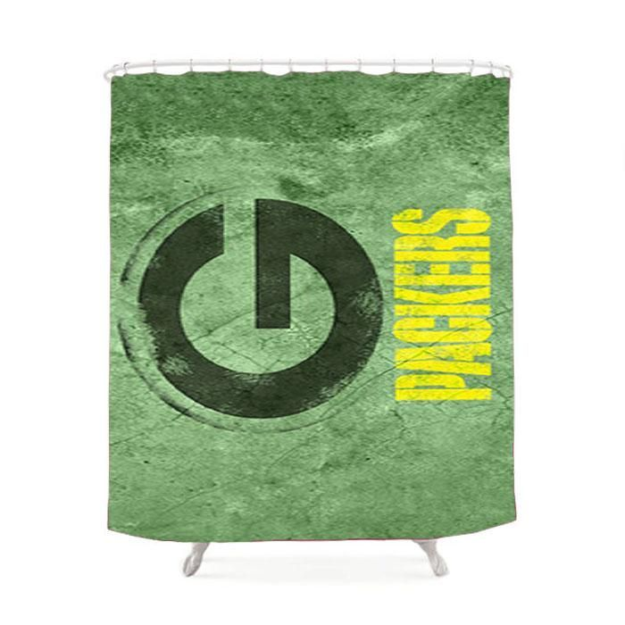 Green Packers Green Wall Landscape Shower Curtain #GreenLandscape