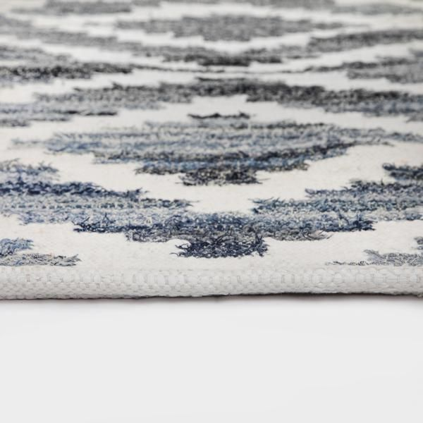 Ananya Rug (thickness) by Sugarcane Trading Co Recycled denim and cotton mix.  Handmade with love in India.    Available in -  90cm x150cm  120cm x 180cm  160cm x 240cm  200cm x 300cm