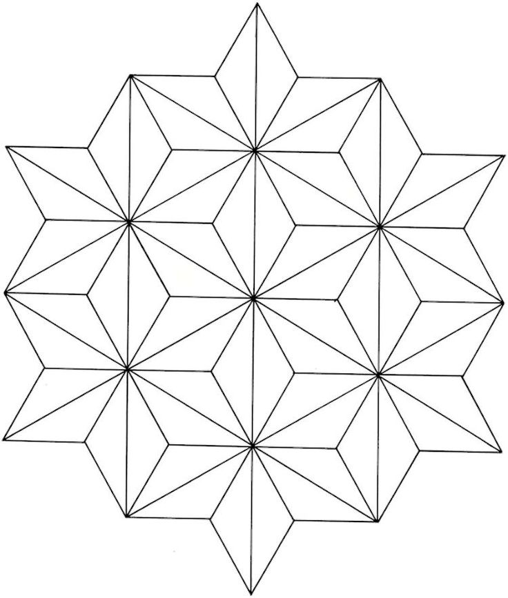 Dover Creative Haven Geometric Star Designs Coloring Page
