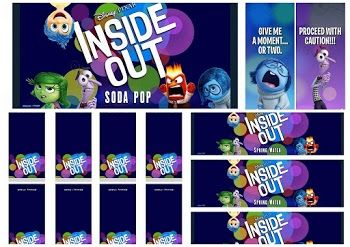 Fiesta de Del Revés o Inside Out: Etiquetas para Candy Bar para Imprimir Gratis.