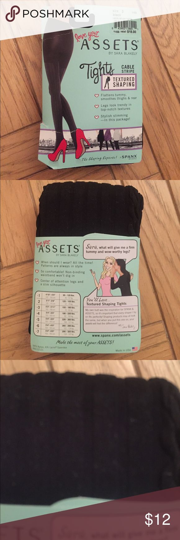 NWT Assets by Spanx textured tights NWT Assets by Spanx textured tights!! Cable stripe. Never worn. Perfect condition. Flattens tummy and stylish slimming! All offers considered and I bundle 🌸🌸 Assets By Spanx Accessories Hosiery & Socks
