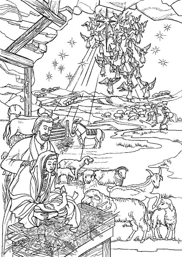birth of jesus coloring pages - 88 best images about kerst kleurplaten on pinterest