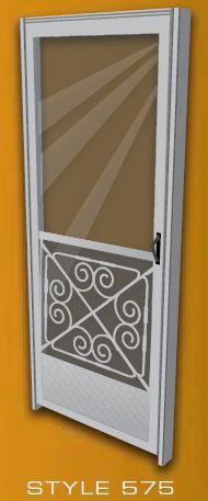 Mill finish aluminum screen door for a midcentury house -- 3 places to buy them - Retro Renovation