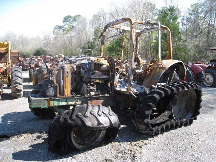 This tractor has been dismantled for John Deere 6420 tractor parts.  #johndeere #tractor #parts