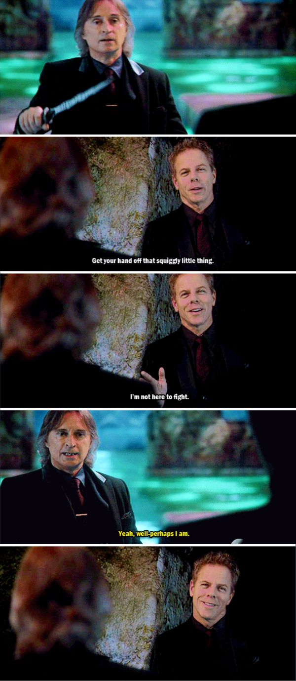 """""""I'm not here to fight"""" - Hades and Rumple #OnceUponATime"""