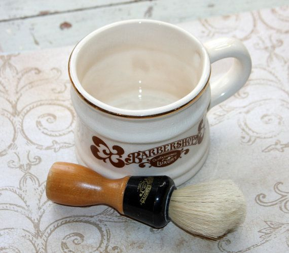 Barbershop Old Fashioned Luxury Mug and BRISTLE by VintageSupplyCo