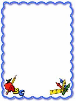 School Clip Art Borders | school clipart frames image search results
