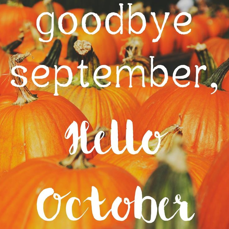 Attractive Goodbye September Hello October