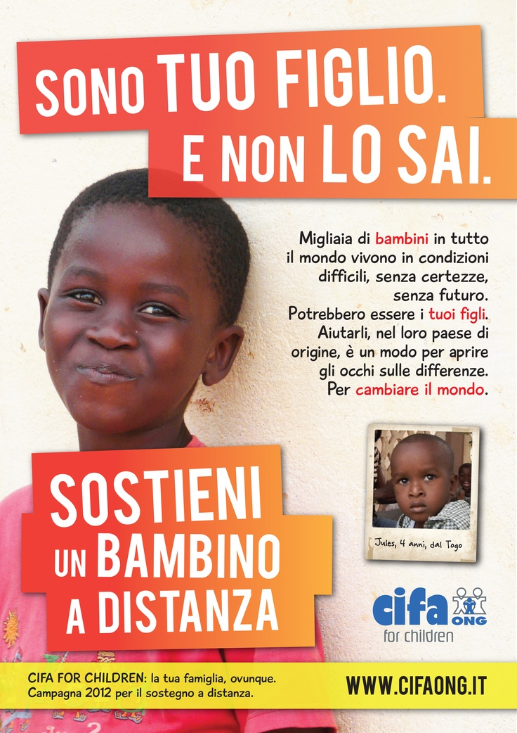 #sostegnoadistanza e se fosse tuo figlio? Il primo soggetto della nuova campagna di CIFA