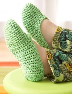 EasyFamilySlippers-a(Crochet)-Easy Family Slippers