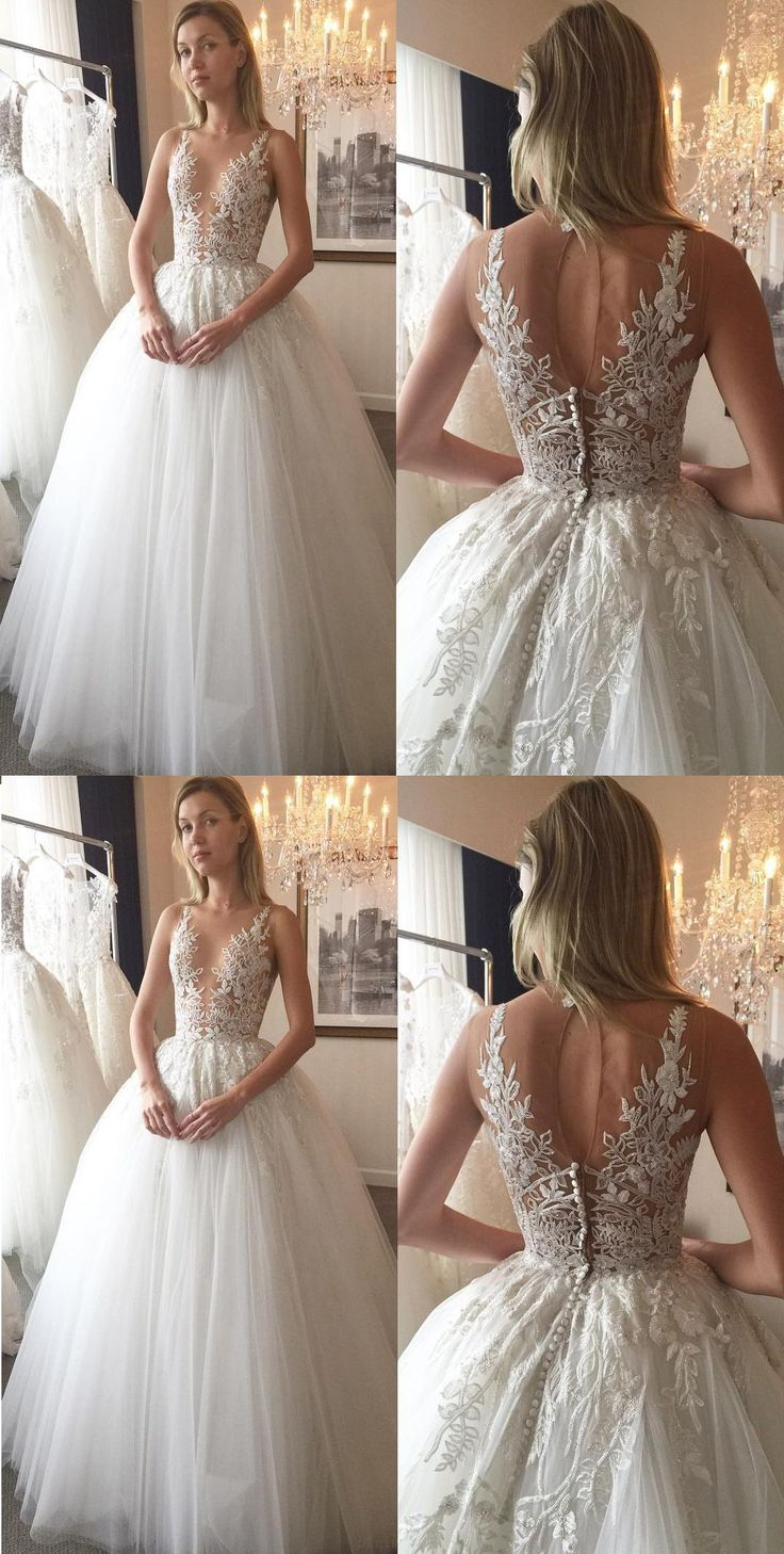 Wedding dresses Sale, V Neck Wedding dresses, Ivory Wedding Dresses, Wedding Dresses Princess, A Line Wedding Dresses, Princess Wedding Dresses, A Line dresses, V Neck dresses, Zipper Wedding Dresses, Applique Wedding Dresses, V-Neck Wedding Dresses, A-line/Princess Wedding Dresses #weddingdresses