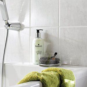 11 best bathroom images on pinterest bathroom bathroom ideas and wickes florina grey gloss ceramic wall tile 200x250mm ppazfo