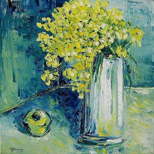 Claudia Hansen Kunst Stilleben Pflanzen: Blumen Moderne Expressionismus Neo-Expressionismus