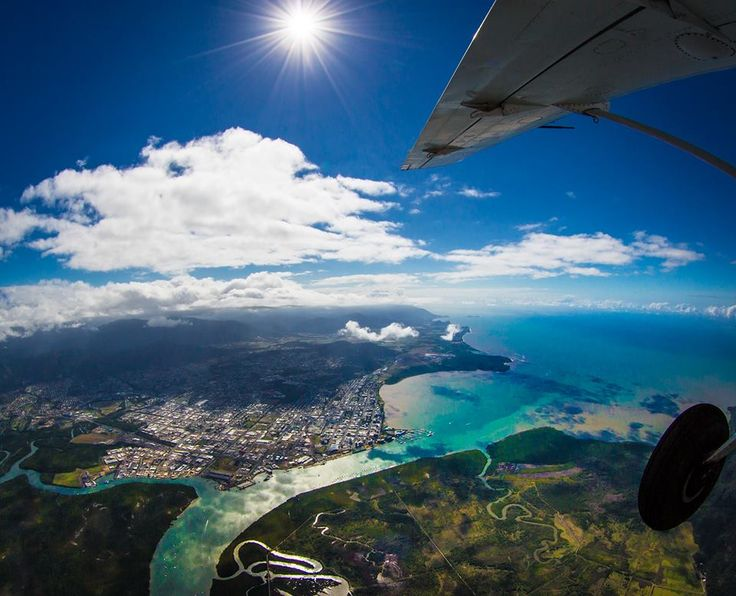 See Cairns from every aspect, starting with a skydive at our Skydive Australia Cairns drop zone. Explore sky, sea and sand. #SkydiveAustralia #bucketlist #summer #escape #holidays #travel #ideas #Australia