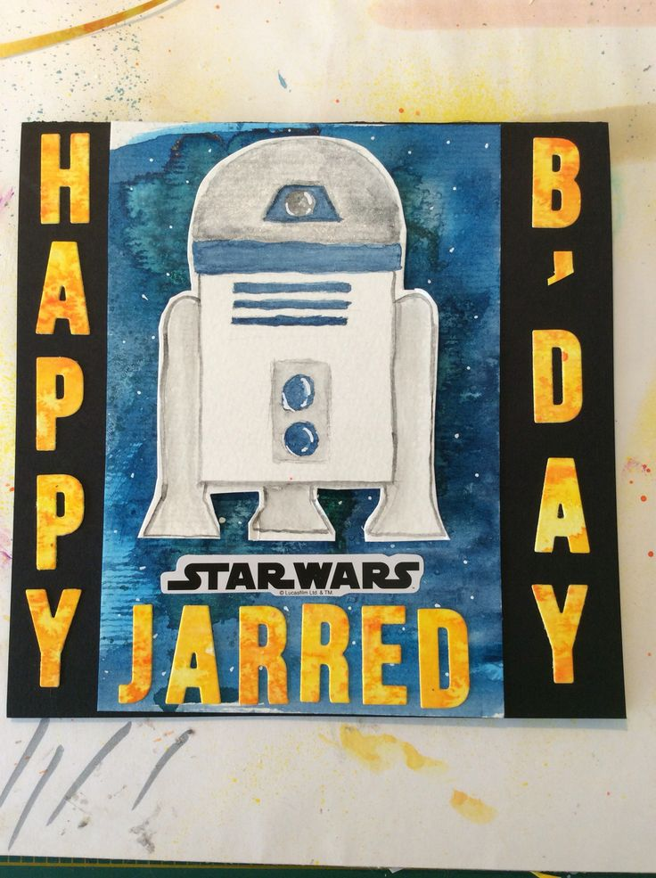 I loved making this watercolour Star Wars card for my nephew. It was so much fun.