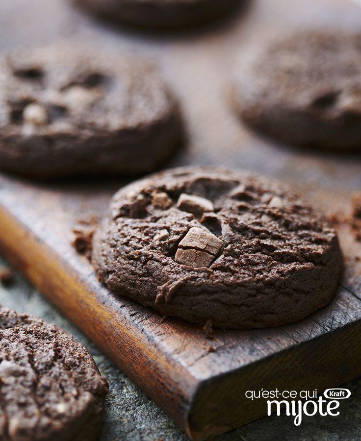 Biscuits aux deux chocolats #recette