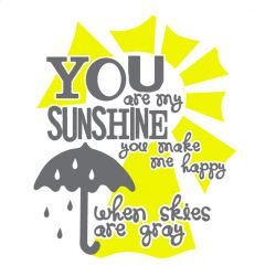 """Decorate your own shirt with the popular """"You Are My Sunshine"""" phrase. Free design template for the Silhouette SD!"""
