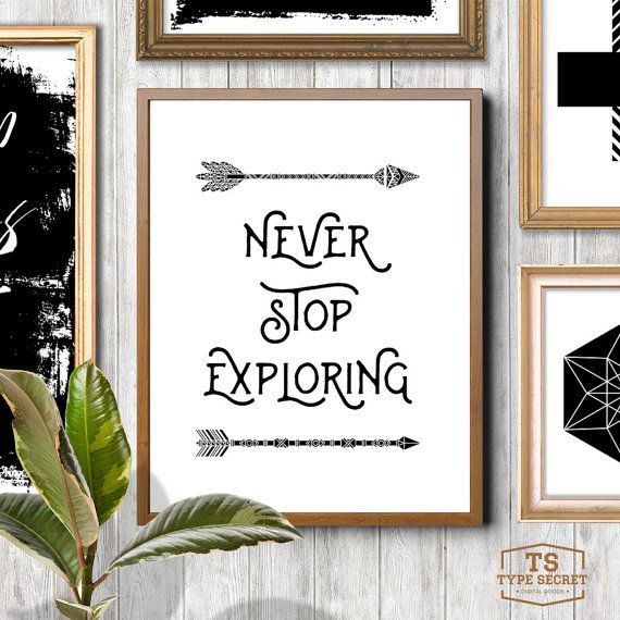 Boys Room Wall Art Never Stop Exploring Adventure Art Arrow Art Arrow Print Outs Tribal Nursery Tribal Print Aztec Printable Print