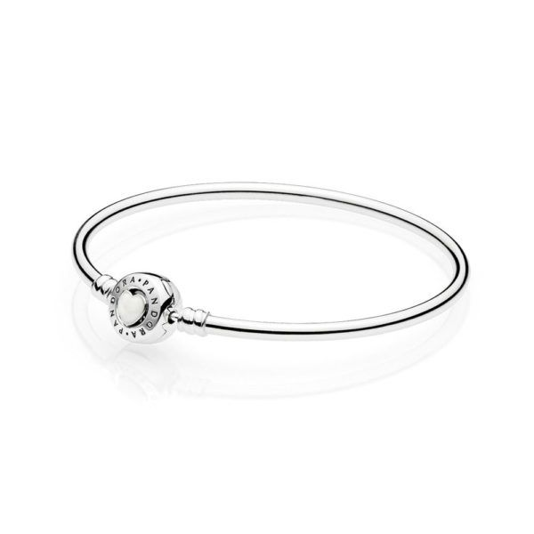 Limited Edition Loving Heart Bangle | PANDORA, Introducing the stylish Loving Heart bangle from PANDORA, perfect for starting and continuing a collection. The sumptuously smooth sterling silver design features an adorable signature clasp with an attractive silver enamel heart centre, CA$115.98 14% OFF, Buy Now: http://www.pandoracanada2013.com/pandora-limited-edition-bracelet.html