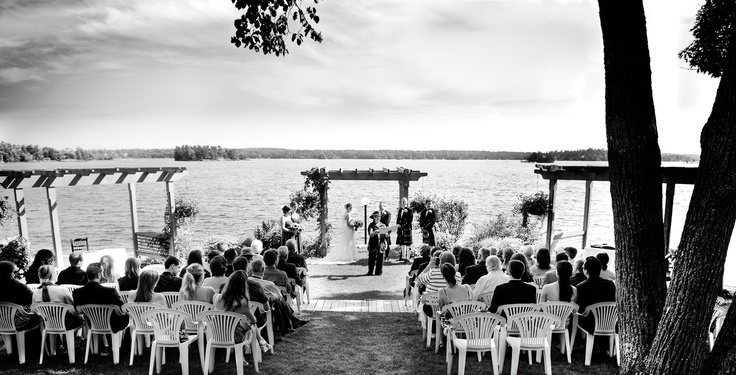 Lakeside Wedding Ceremony at Viamede Resort for you Country Wedding