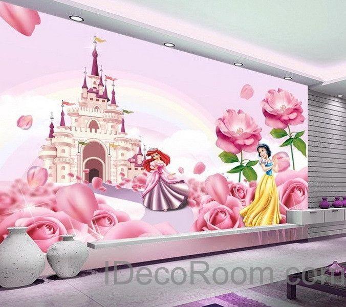 Best 25 princess mural ideas on pinterest rapunzel room for Disney castle mural wallpaper