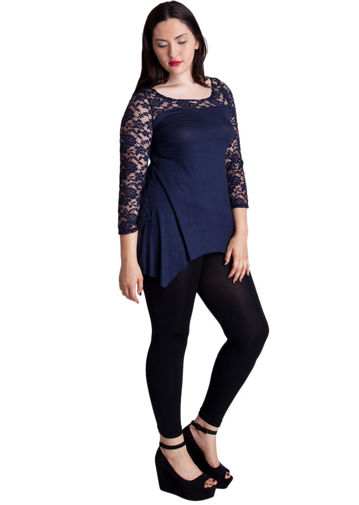 Plus Embroidered Lace Mesh Top #plussize #lacemesh #embroideredtop #newarrivals