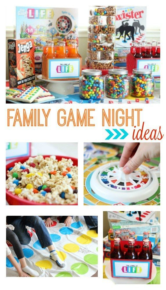 Family Game Night Party Ideas | Put more play into your family by hosting a weekly Family Game Night